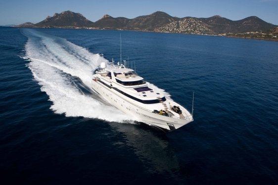 Charter yacht 'Sunliner X' cruising in the Mediterranean