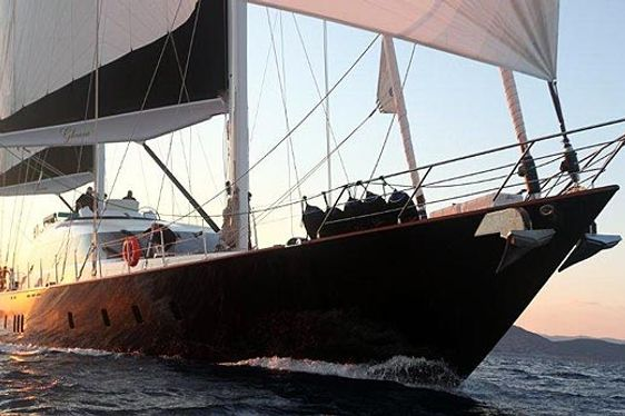 Charter yacht GLORIOUS sailing in Turkey