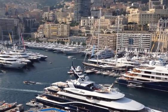 Video - Views over Monaco Yacht Show from Charter Yacht ATHENA