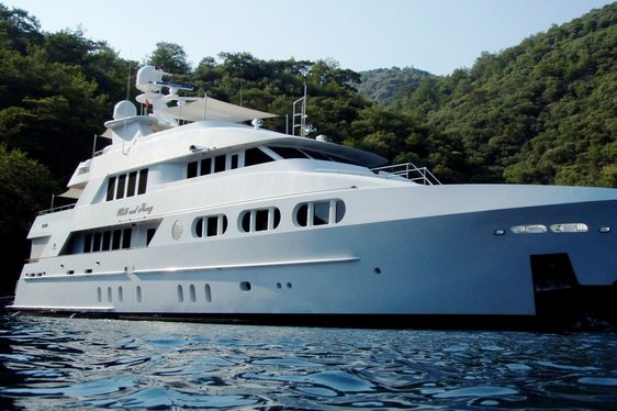 superyacht Milk and Honey on a luxury yacht charter in the Caribbean