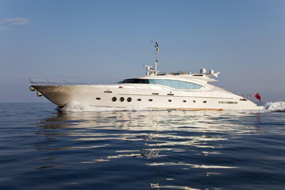 Charter yacht Natalia cruising in Naples
