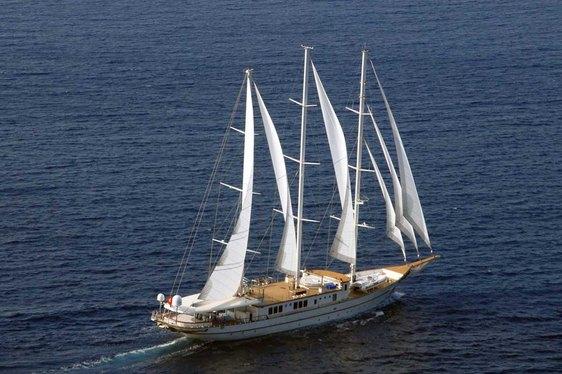 Sailing Yacht MONTIGNE has 2-week Charter Gap in the Mediterranean