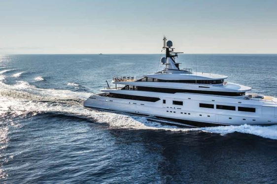 superyacht SUERTE cruising on charter in the Mediterranean