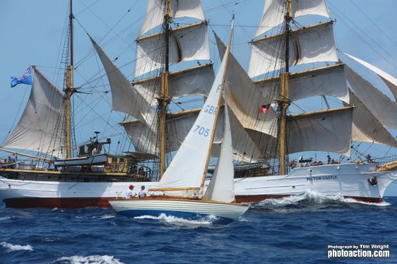Yachts at Antigua Classic Yacht Regatta