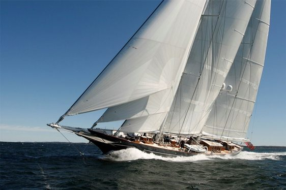 Luxury Sailing Yacht METEOR Available for the St Barth's Bucket Regatta