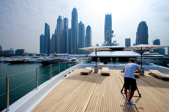 YachtsXL filming Nirvana Superyacht in Dubai