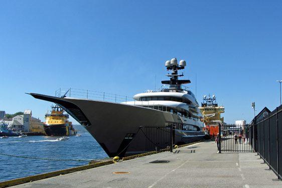 Lurssen Superyacht KISMET Cruises In The Norwegian Fjords