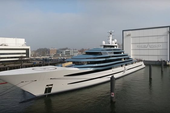 Oceanco Superyacht JUBILEE Caught On Film