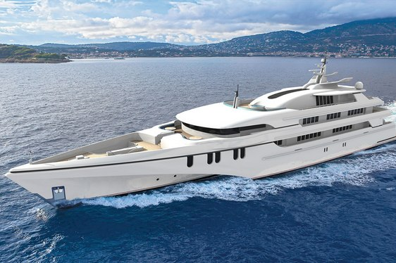 superyacht White Rabbit Golf cruising through the water