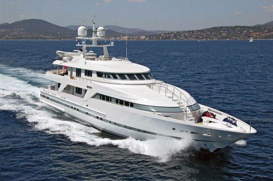 superyacht Deep Blue II cruising on a Mediterranean yacht charter