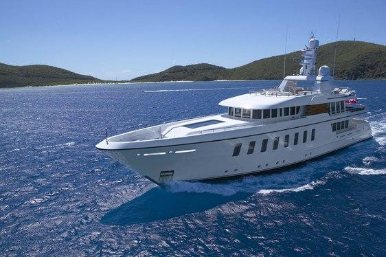superyacht GLADIATOR cruising on a luxury yacht charter