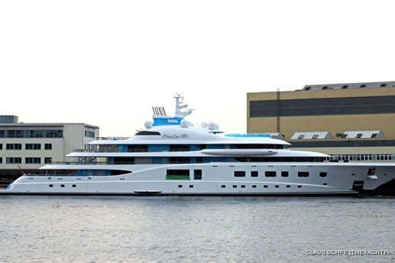 Lürssen Launch Superyacht 'Quantum Blue'