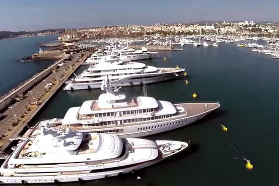 Video – Superyachts on 'Billionaires Row' in Antibes Harbour