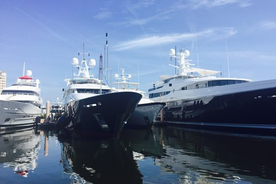 Yacht Charter Fleet Arrives At Palm Beach Boat Show 2016