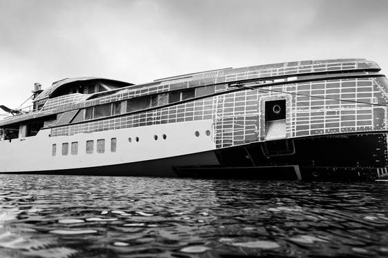 New Feadship superyacht Project 706 starts to take shape