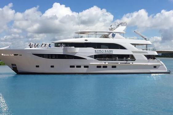 Superyacht King Baby cruising on charter