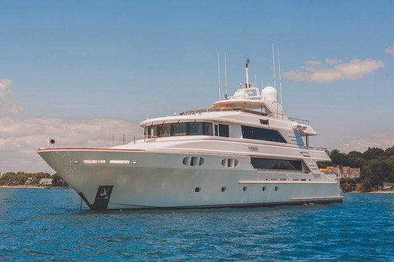 superyacht Far From It cruising on a Bahamas yacht charter