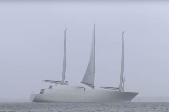 Video: World's Largest Sailing Yacht 'A' Undergoes Sail Test