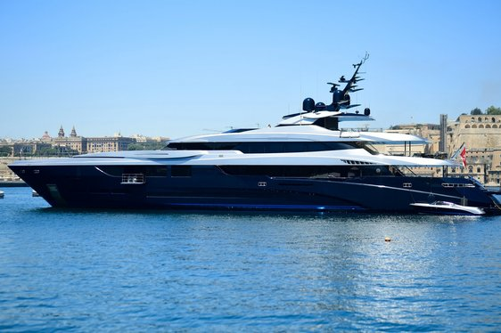 superyacht SARASTAR cruising on a Mediterranean yacht charter
