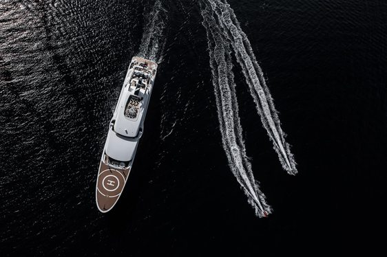 Lurssen superyacht ARETI on the market and appearing at Monaco Yacht Show 2018