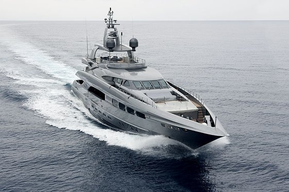 Charter yacht Auspicious under power