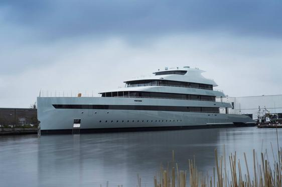 Feadship superyacht SAVANNAH launching from the De Vries yard