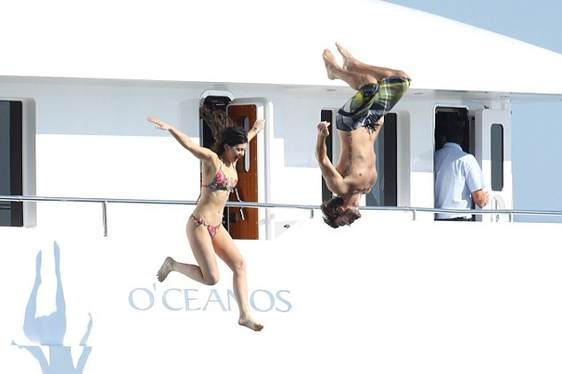 Kardashians Greece Yachting Vacation on O'Ceanos Charter Yacht