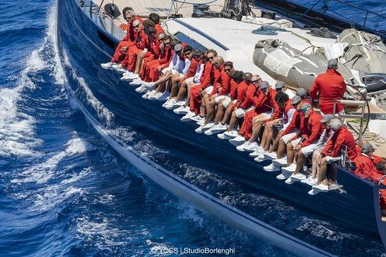crew on board sailing yacht My Song at Loro Piana Superyacht Regatta 2018