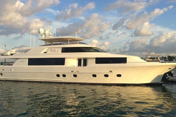 Luxury yacht Black Swan cruising on charter in the Bahamas