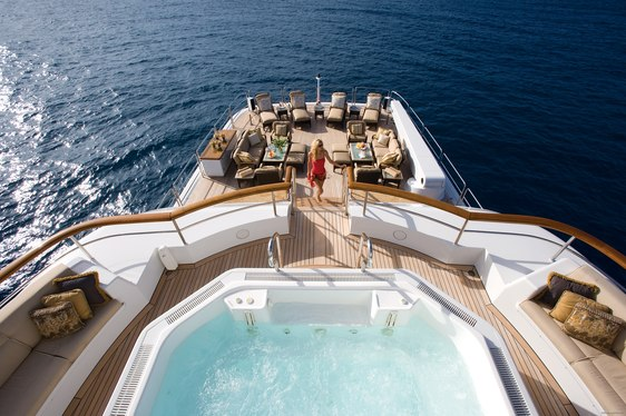 On-deck Jacuzzi