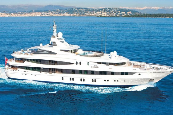 Charter Yacht NATITA On Display in Miami's Brand New Marina This Week