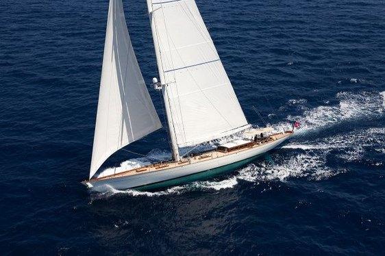 Charter yacht Annagine under sail in the West Mediterranean