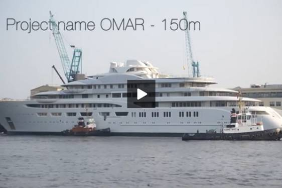 VIDEO: First Footage of New 150m+ Lurssen Superyacht OMAR