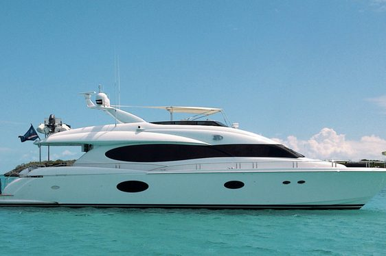 Charter yacht 'Cold Gecko' at anchor in the Bahamas