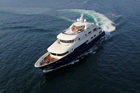 Serenity II yacht running shot