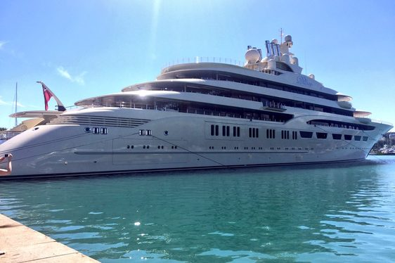 Superyacht DILBAR Impresses Crowds In Antibes