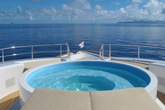 Relax in 'Masteka 2' yacht jacuzzi