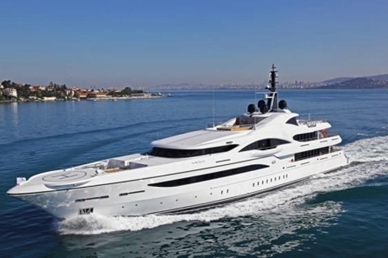 superyacht VICKI cruising on charter in the Mediterranean