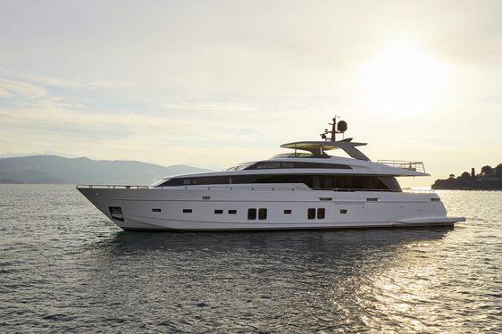 luxury yacht DINAIA cruising on a Greece yacht charter