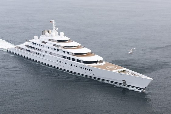 World's Largest Yacht AZZAM Leaves Shipyard