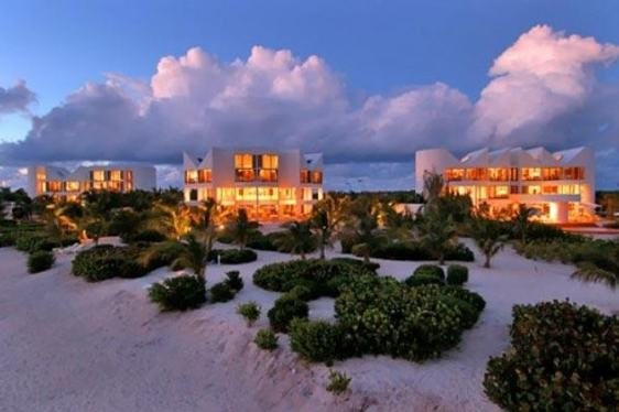 Sun sets over Altamer Resort in Anguilla