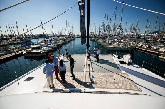 Press aboard Sunreef luxury catamaran Levante