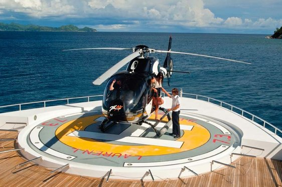 How to Land a Helicopter on a Superyacht - Featuring Charter Yacht 'LAUREN L'