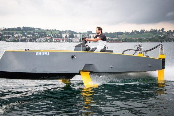 World's First Flying Hybrid Yacht by HYDROS