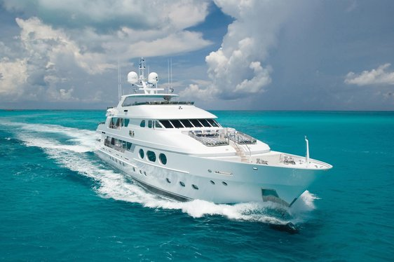 Superyacht Lady Joy cruising on charter in the Caribbean