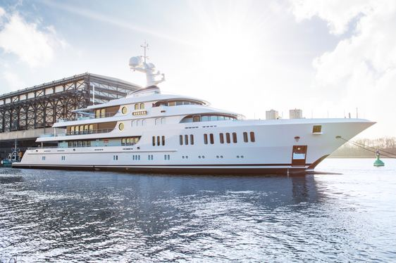 Superyacht AURORA Launched By Lurssen