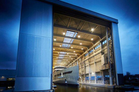 Superyacht SAVANNAH launching from Feadship