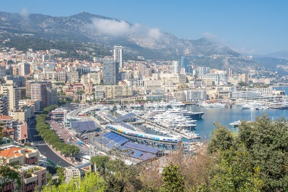 Port Hercules and surrounds during the Monaco Grand Prix