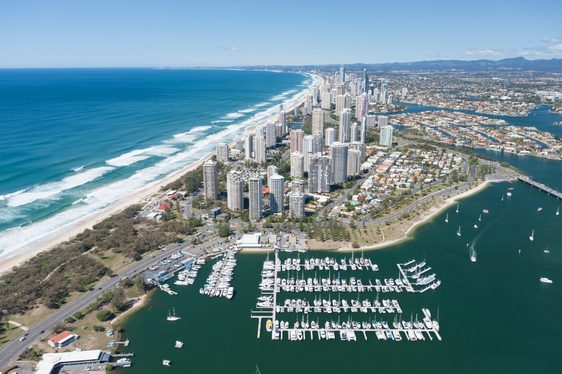 Gold Coast City Marina in Queensland, Australia