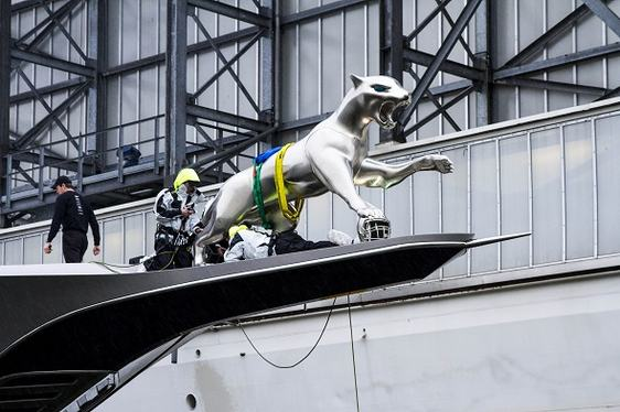 VIDEO: How Superyacht KISMET's Giant Jaguar Mascot was Created